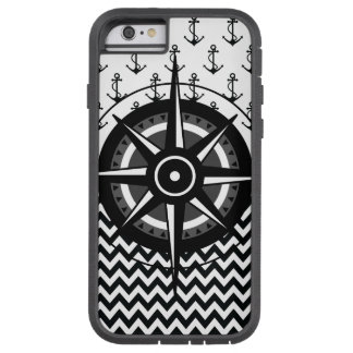 Anchor Chevron and Compass Pattern Tough Xtreme iPhone 6 Case