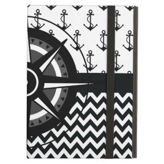 Anchor Chevron and Compass Pattern Cover For iPad Air
