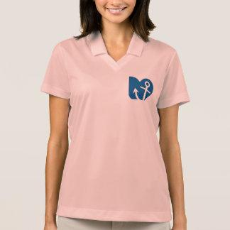 Anchor circle polo t-shirts