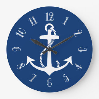 Anchor Round Wall Clock