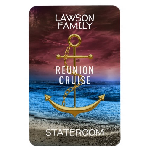 Anchor Cruise Stateroom Cabin Door Marker Reunion Magnet