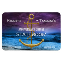 Anchor Cruise Stateroom Door Marker Anniversary Magnet