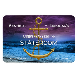 Anchor Cruise Stateroom Door Marker Anniversary Magnet