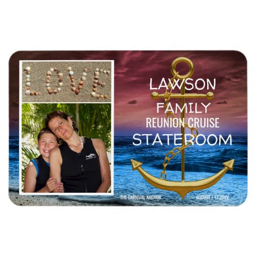 Anchor Cruise Stateroom Door Marker Reunion Photo Magnet