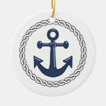 Anchor Dated Christmas Ornament