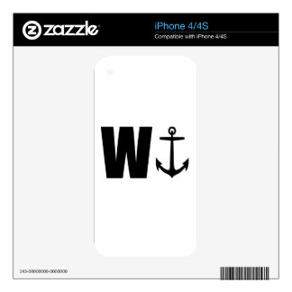 anchor decals for iPhone 4