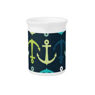 Anchor Design Beverage Pitcher