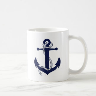 Anchor design coffee mug