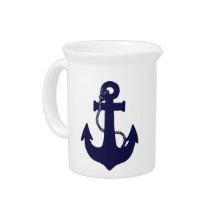 Anchor design drink pitchers