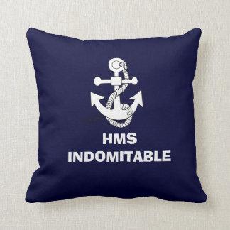 Anchor design, HMS INDOMITABLE Throw Pillow