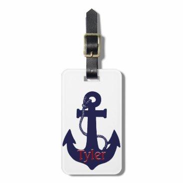 Anchor design luggage tag
