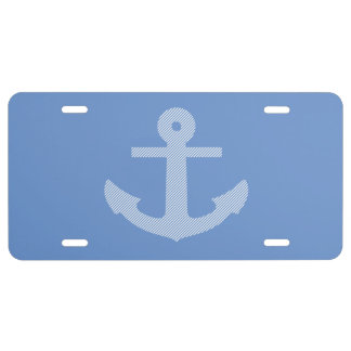 Anchor Design ...with you color background. License Plate