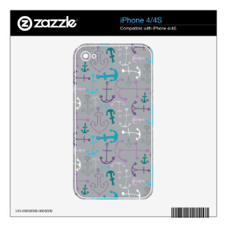 Anchor Doodles Decals For The iPhone 4S