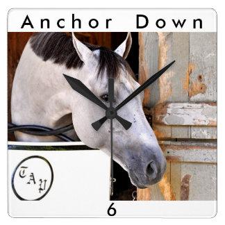 Anchor Down Square Wall Clock