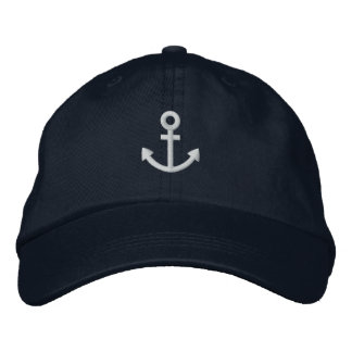 Anchor Embroidered Baseball Cap