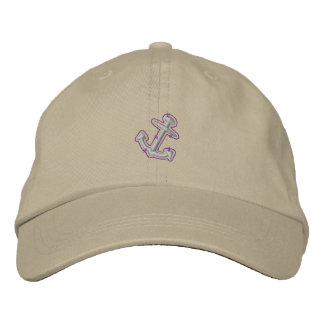 Anchor Embroidered Baseball Hat