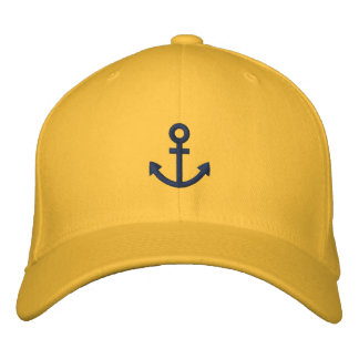 Anchor Embroidered Baseball Cap