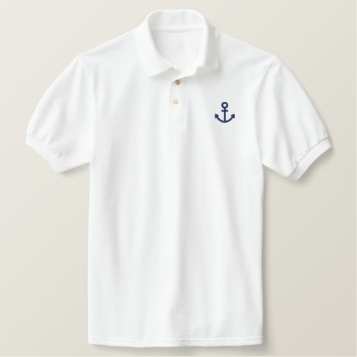 Anchor Embroidered Polo Shirt