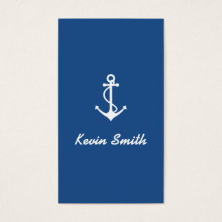 Anchor Fishing Boat Excursions Boat Charter Business Card