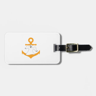 Anchor ghost Halloween Bag Tag