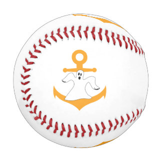 Anchor ghost Halloween Baseball