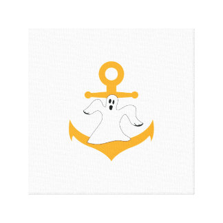 Anchor ghost Halloween Canvas Print