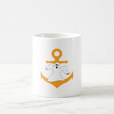 Halloween Themed Anchor ghost Halloween Coffee Mug