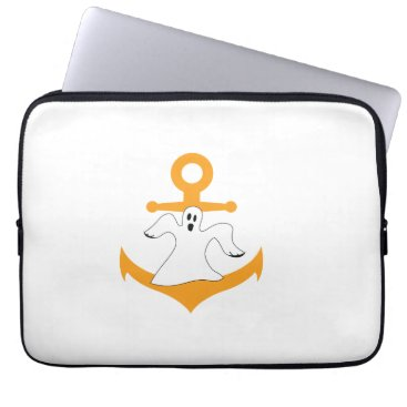 Anchor ghost Halloween Computer Sleeve