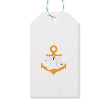 Anchor ghost Halloween Gift Tags