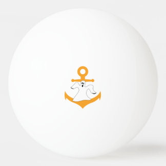 Anchor ghost Halloween Ping Pong Ball