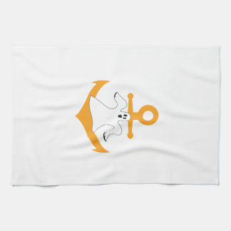 Anchor ghost Halloween Towel