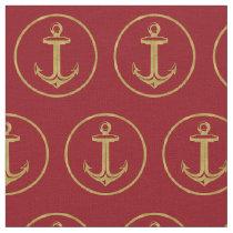 Anchor Gold   Marine Fabric