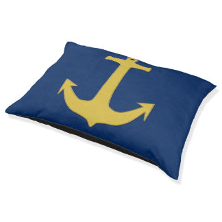 Anchor gold + your background & ideas dog bed