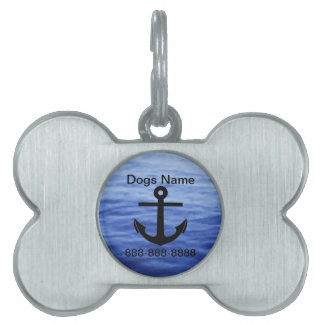 Anchor Graphic to personalize Pet Name Tags
