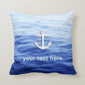 Anchor Graphic to personalize Throw Pillow