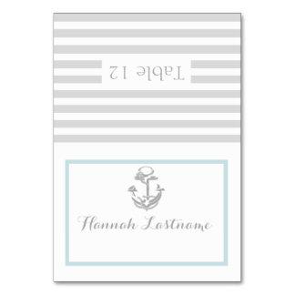 Anchor Grey Nautical Seating Card Table Card