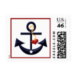 Anchor Heart Postage Stamps