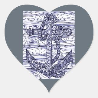 Anchor Heart Sticker