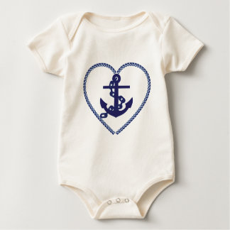 Anchor in Heart Baby Bodysuit