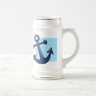 Anchor in the Waves Beer Stein