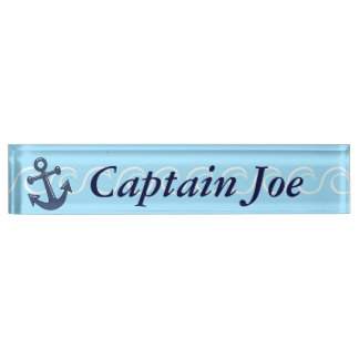 Anchor in the Waves Desk Name Plate