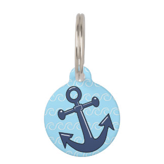 Anchor in the Waves Pet Tags