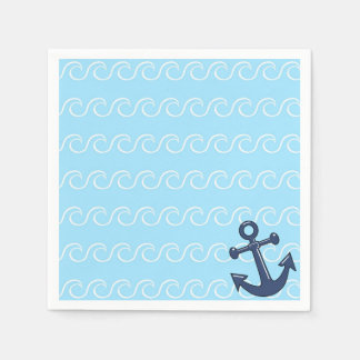 Anchor in the Waves Napkin