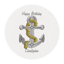 Anchor Just Add Name Birthday Edible Frosting Rounds