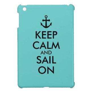 Anchor Keep Calm and Sail On Nautical Custom iPad Mini Covers