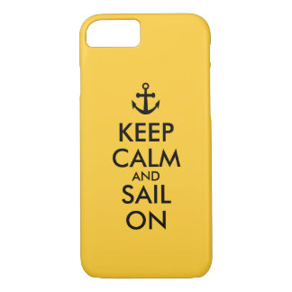 Anchor Keep Calm and Sail On Nautical Custom iPhone 8/7 Case