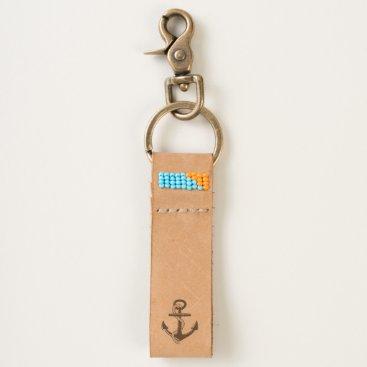 Beach Themed Anchor Keychain