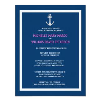 ANCHOR l Nautical Destination Themed Wedding 4.25x5.5 Paper Invitation Card