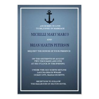 ANCHOR l Nautical Destination Themed Wedding Invit Personalized Invites