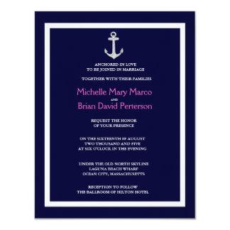 ANCHOR l Nautical Destination Themed Wedding Personalized Invites